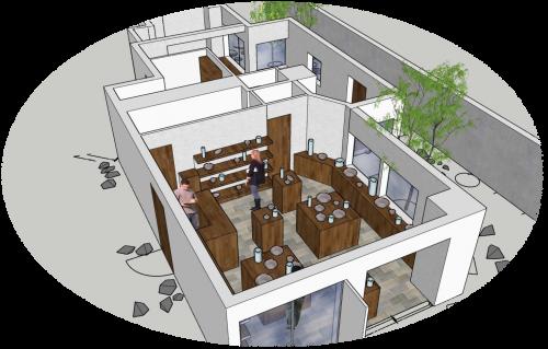 蔵とまきの郷 テナント空間イメージ